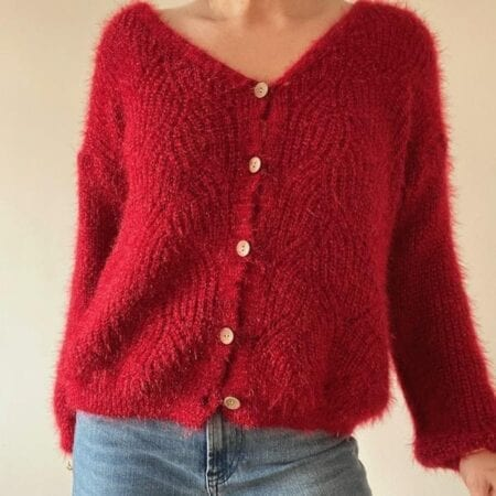 Christmas Jumpers For Women Red Cardigan