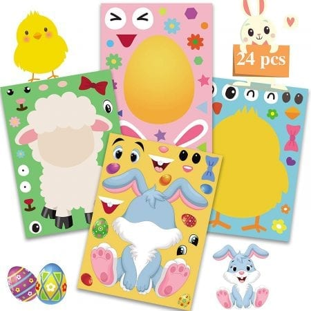 Non chocolate easter gifts kids Easter Stickers