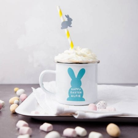 Non chocolate easter gifts kids personalised bunny mug