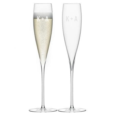Mothers Day Gift Ideas - monogrammed-savoy-champagne-flutes